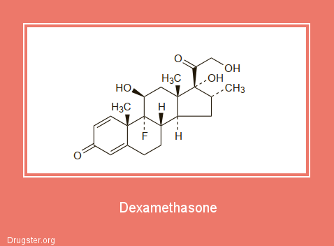 Dexamethasone Chemical formula