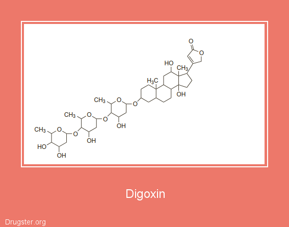 Digoxin Chemical formula