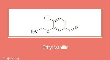Ethyl Vanillin Chemical formula