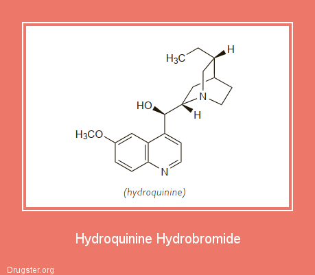 Hydroquinine Hydrobromide Chemical formula