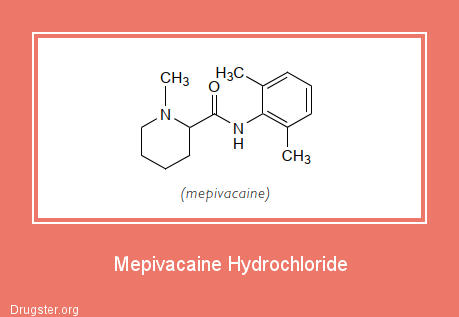 Mepivacaine Hydrochloride Chemical formula