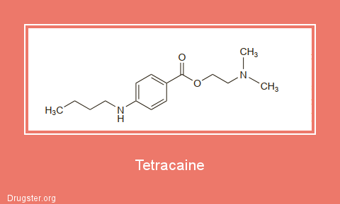 Tetracaine Chemical formula