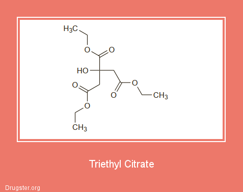 Triethyl Citrate Chemical formula